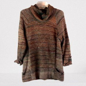 Leo & Nicole Cowl neck 3/4 sleeve sweater XL